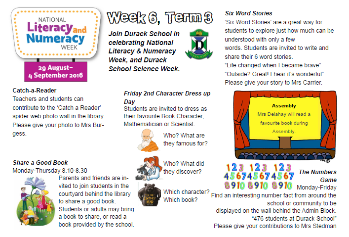 Literacy, Numeracy and Science Week at Durack